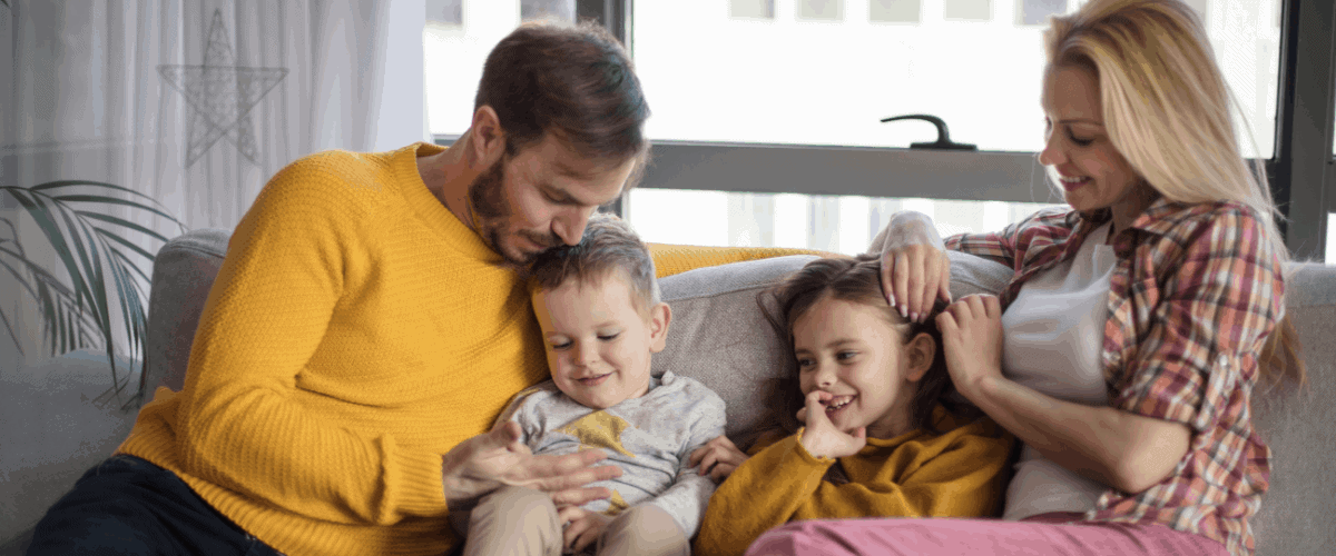 family excited after introducing a new member