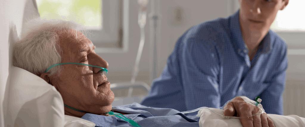 man sleeping in palliative care