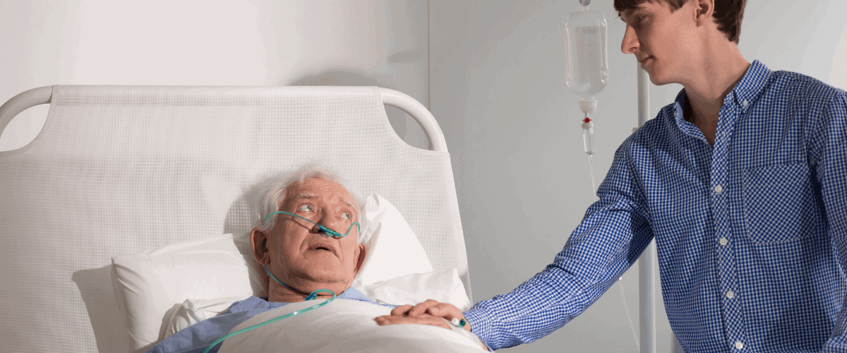 man dying in hospice care