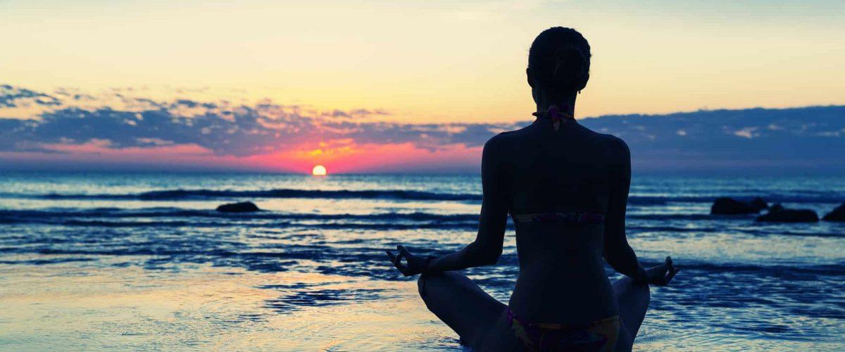 Meditation on the beach